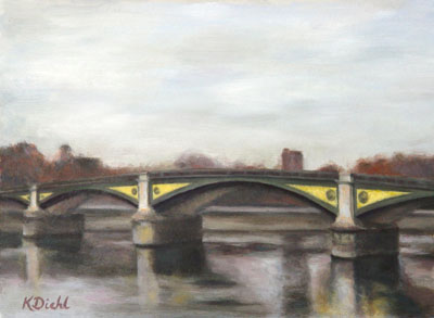 Painting of Battersea Bridge, London